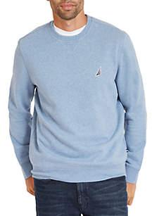 Long Sleeve Fleece Crew Neck Pullover
