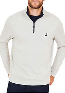 Half-Zip Mock Neck Pullover
