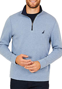 Half-Zip Mock Neck Pullover
