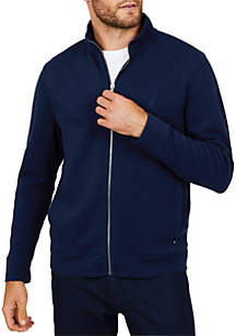 Full-Zip Mock Neck Pullover