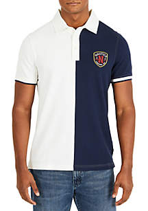 Slim Fit Short Sleeve Split Polo