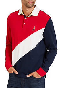 Classic Fit Long Sleeve Souvenir Polo