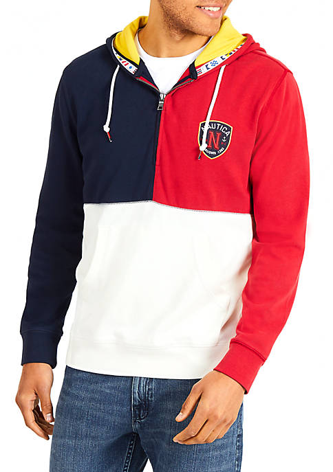 Nautica Fashion Blocked Pullover Hoodie