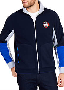 Classic Fit Pieced Full-Zip Polo
