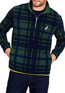 Half-Zip Printed Pullover