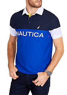 Classic Fit Short Sleeve Blocked Polo