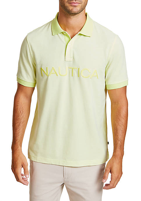 Classic Fit Oxford Polo Shirt with Logo