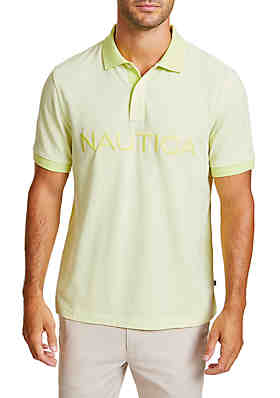 9bb9403ba8d Nautica Classic Fit Oxford Polo Shirt with Logo ...