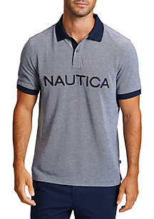 Nautica Classic Fit Oxford Polo Shirt with Logo