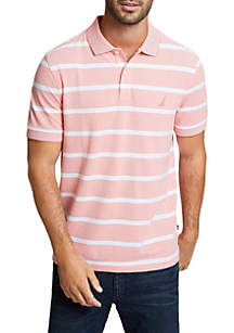 Striped Classic Fit Oxford Polo Shirt