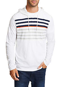 Beach-to-Street Striped Hoodie