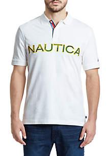Nautica Logo Classic Fit Polo Shirt