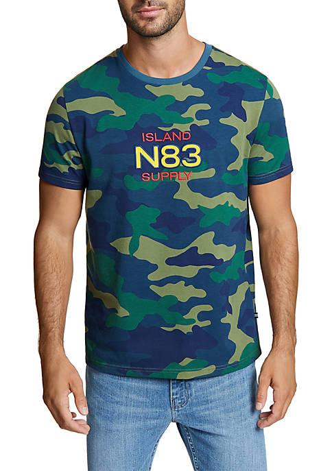 Nautica Camo N 83 Crew Neck Tee