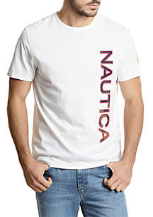 Logo Applique Crew Neck Tee