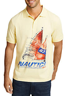 Artist Series Painted Boat Classic Fit Polo Shirt