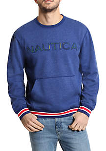 Logo Fleece Crew Neck Pullover