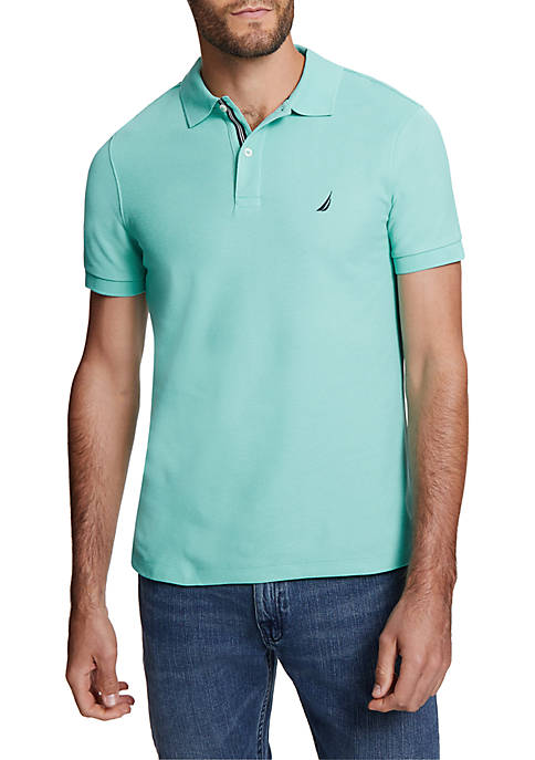 Nautica Short Sleeve Solid Slim Fit Deck Polo