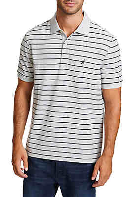 2a3829432 Nautica Striped Classic Fit Deck Polo Shirt ...