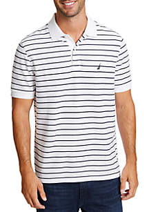 Nautica Striped Classic Fit Deck Polo Shirt