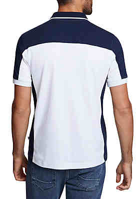 76d97bb1 ... Nautica Side Panel Classic Fit Performance Polo