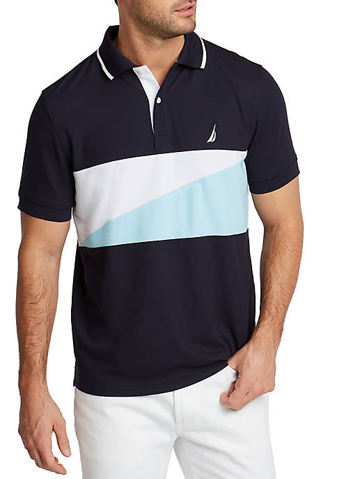 Nautica Short Sleeve Classic Fit Navtech Chest Block