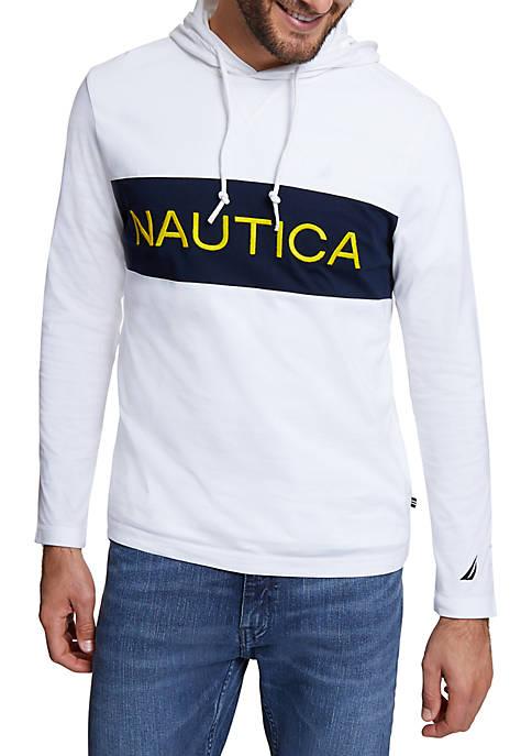 Nautica Chest Logo Beach to Street Hoodie