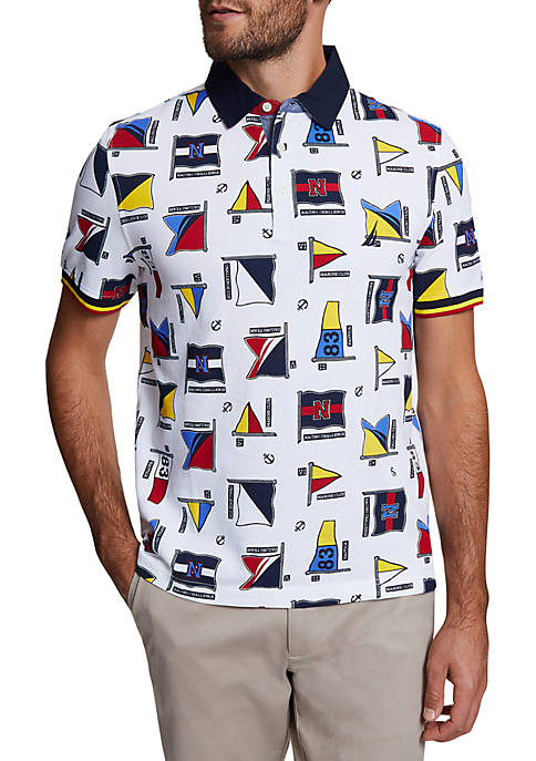 Classic Fit Large Flag Motif Polo