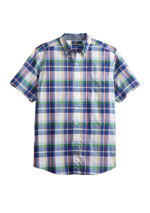 Big & Tall Plaid Stretch Poplin Shirt