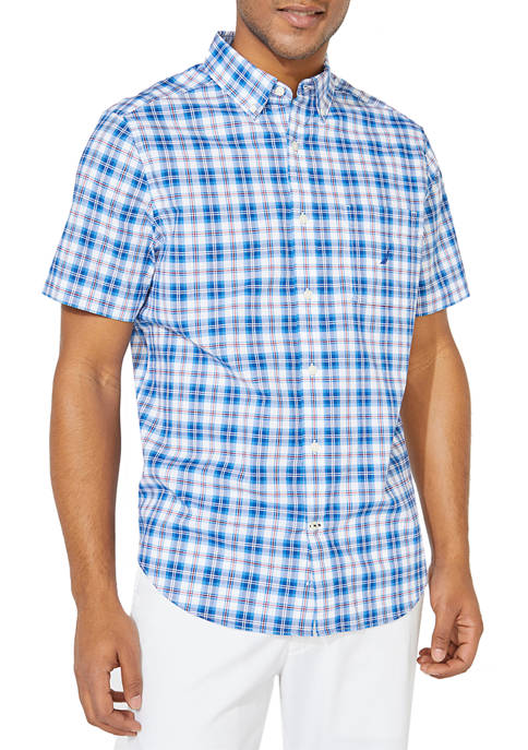 Classic Fit Plaid Button-Down Shirt