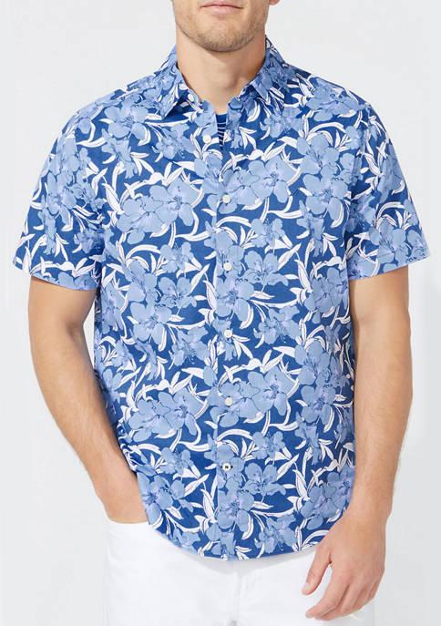 Nautica Big & Tall Navtech Floral Print Shirt