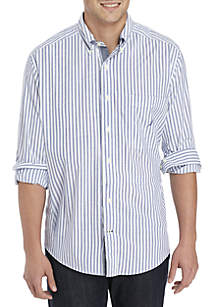 Big & Tall Bengal Stripe Stretch Poplin Shirt