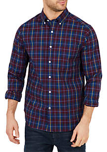 Big & Tall Classic Fit Long Sleeve Plaid Button Down