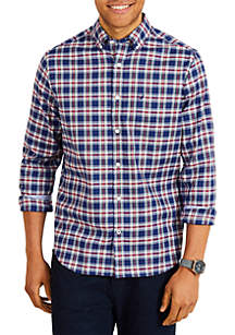Long Sleeve Plaid Classic Fit Button Down