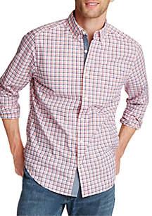 Nautica Big & Tall Long Sleeve Classic Fit Plaid Shirt