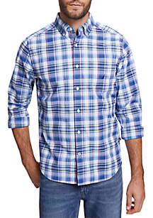 9af4dbfcade ... Nautica Big & Tall Plaid Long Sleeve Classic Fit Shirt