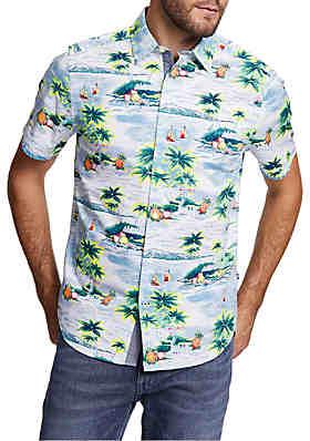 c866fb2b3 Nautica Big & Tall Tropic Print Woven Shirt ...
