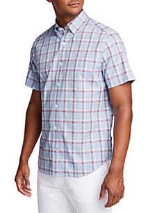 7fbcea195 ... Nautica Big & Tall Short Sleeve Wrinkle-Resistant Plaid Classic Fit  Shirt