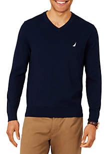 Big & Tall Navtech Jersey V-Neck Sweater