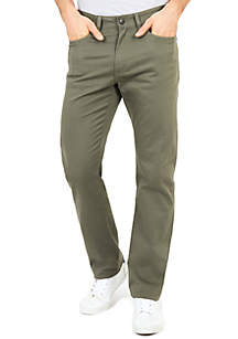 Straight Fit 5-Pocket Pants