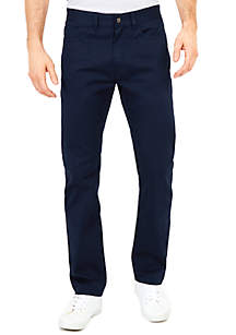 Straight Fit 5-Pocket Pants