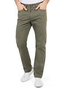 Classic Fit Flat Front Deck Pants