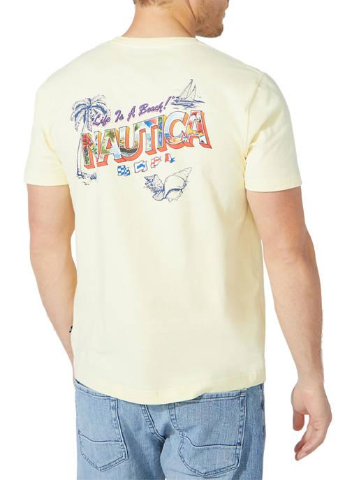 Big & Tall Postcard Graphic T-Shirt