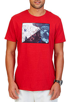 Nautica Big & Tall Collage Graphic T-Shirt