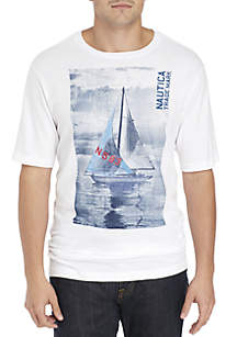 Big & Tall Short Sleeve Sailboat Tee Shirt