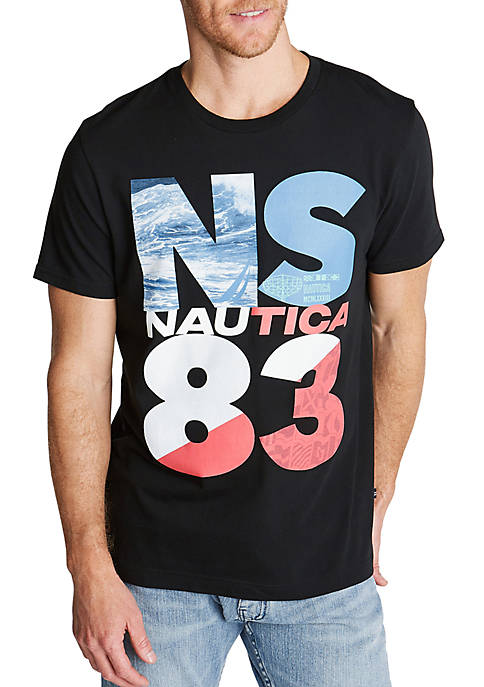 Nautica Big & Tall Crew Neck Jersey T-Shirt