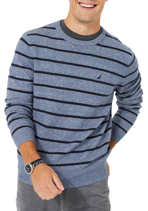 Sustainably Crafted Stripe Crew Neck Sweater