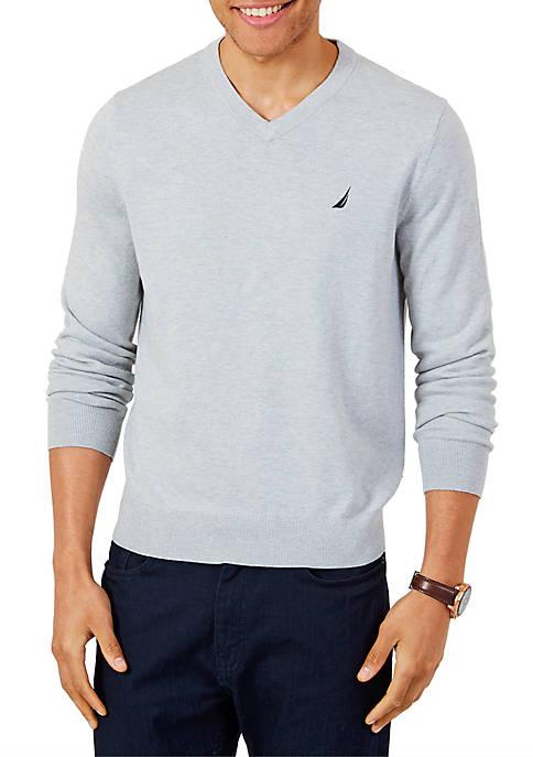 Nautica Lightweight Jersey V-Neck Sweater