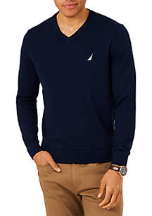 Lightweight Jersey V-Neck Sweater