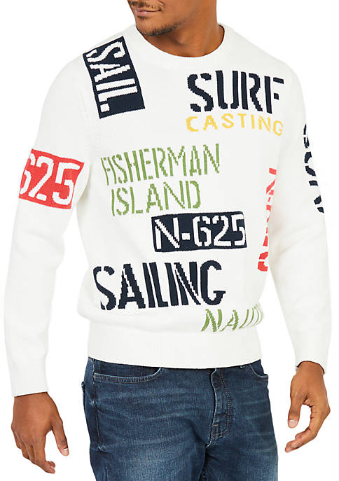 Nautica Sail & Surf Intarsia Knit Sweater