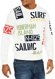 Sail & Surf Intarsia Knit Sweater
